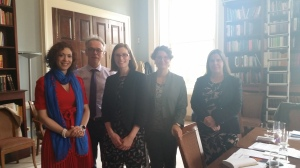 Ismene Gizelis and Han Dorussen with participants from Foreing and Commonwealth Office.